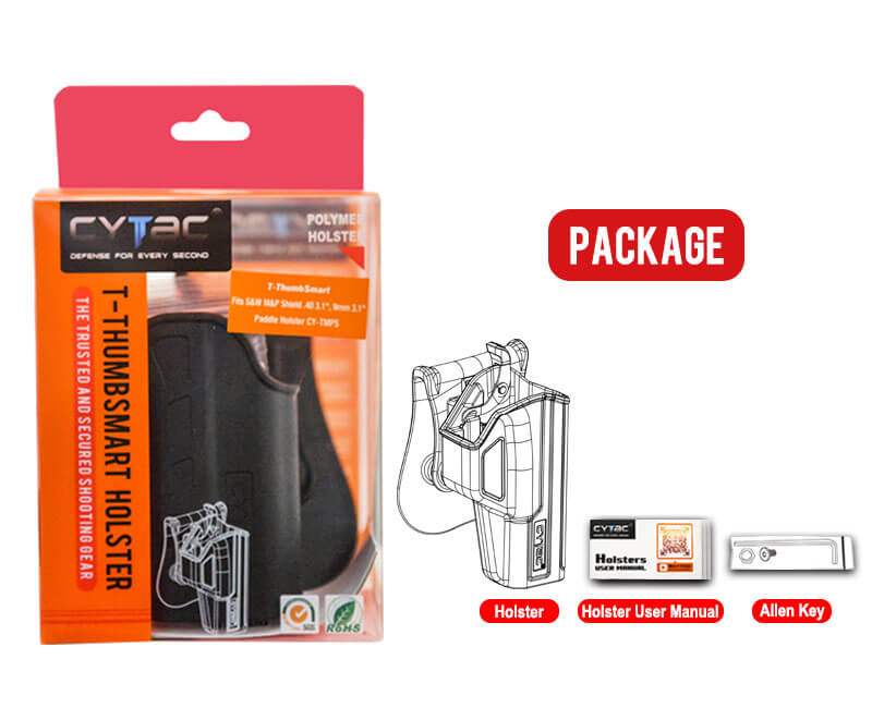 Cytac T-ThumbSmart Holster Package